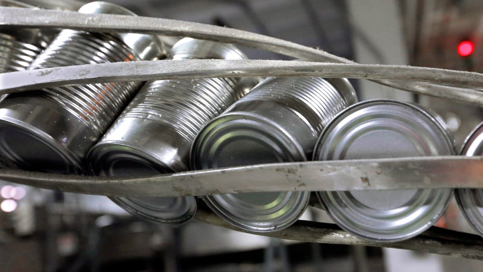 BPA is a plastic ingredient commonly used as a resin on the interior of food cans.