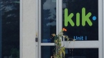 An entrance to the Kik office in Waterloo, Ont., is pictured on Wednesday, Aug. 19, 2015. (Max Wark / CTV Kitchener)