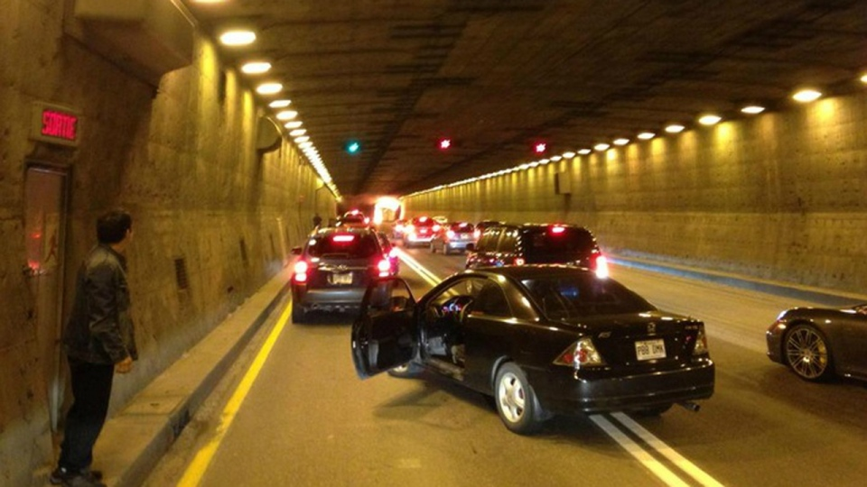 Dave Lepage took this photo of the tunnel as trafi