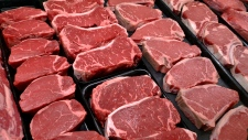 Steaks and other beef products are displayed for sale at a grocery store in McLean, Va., in this Jan. 18, 2010 file photo. (AP Photo/J. Scott Applewhite)