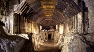 This file photo from March 2012, shows a part of a subterranean system built by Nazi Germany in what is today Gluszyca-Osowka, Poland. (AP Photo)