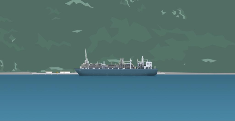 A rendering of what a floating LNG facility could look like in the Saanich Inlet. Aug. 20, 2015. (Courtesy Steelhead LNG)