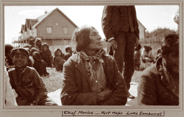 Moonias, one of the most influential chiefs among the James Bay Cree, initially questioned Treaty 9, but nonetheless attended the signing ceremony at Fort Hope, Ont., on July 19, 1905. Among the promises made by crown representative Duncan Campbell Scott was the provision of schools for the children. (Archives of Ontario / Duncan Campbell Scott fonds / Photographer unknown)
