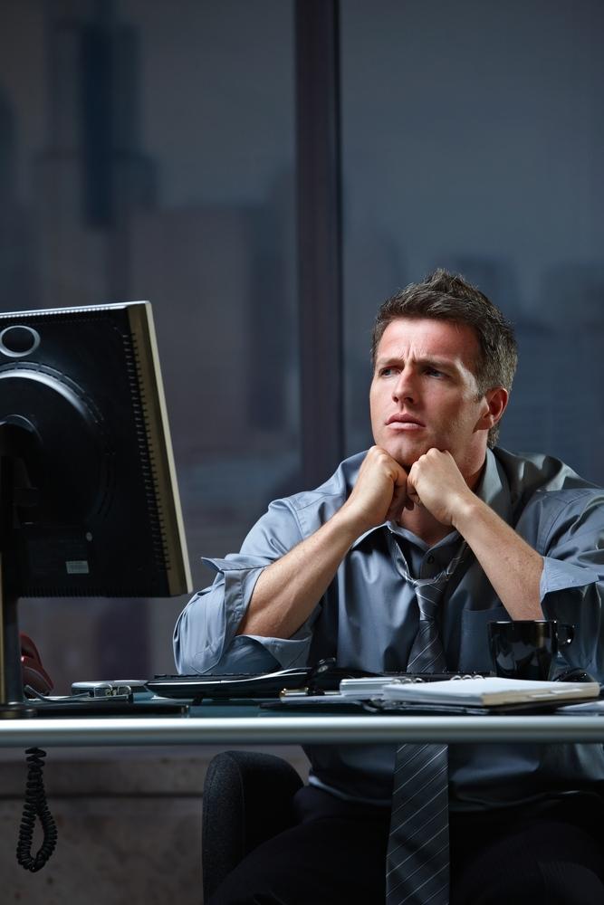 Workplace stress, desk job