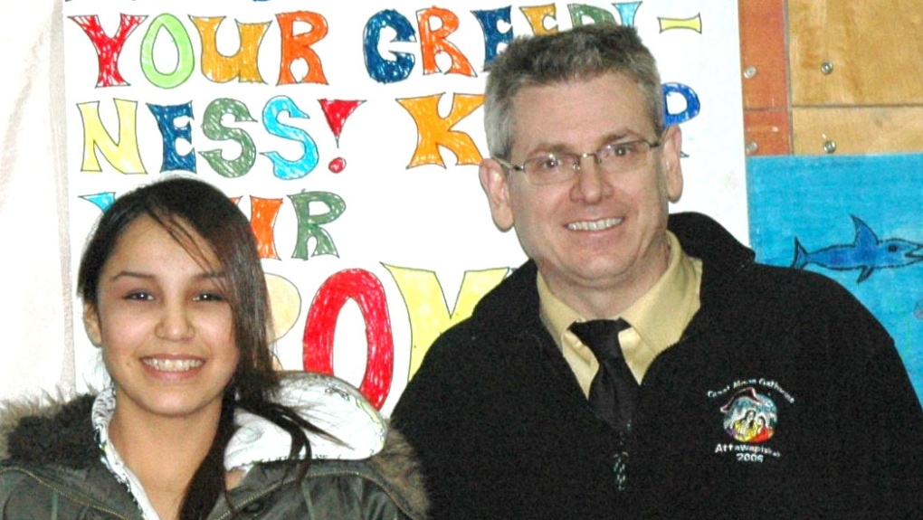 Activist Shannen Koostachin and MP Charlie Angus