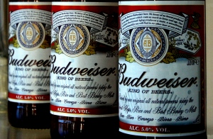 This Jan. 27, 2009 file photo shows bottles of Budweiser beer at the Stag Brewery in London. (AP/Kirsty Wigglesworth, File)