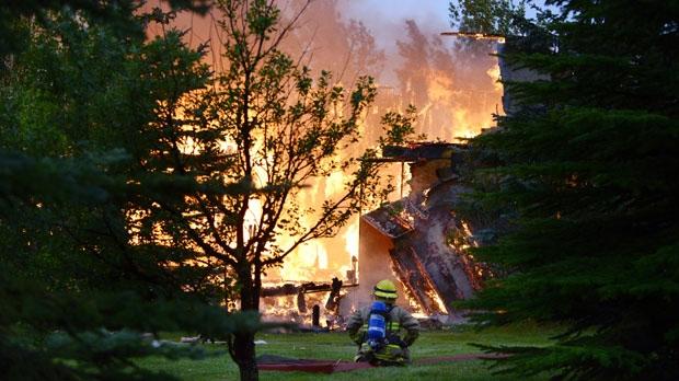 Fire Destroys Rural Home Near Cochrane Neighbours Report