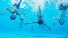 A group of Quebec boys has fallen in love with synchronized swimming, deciding to form a team at the start of the summer.