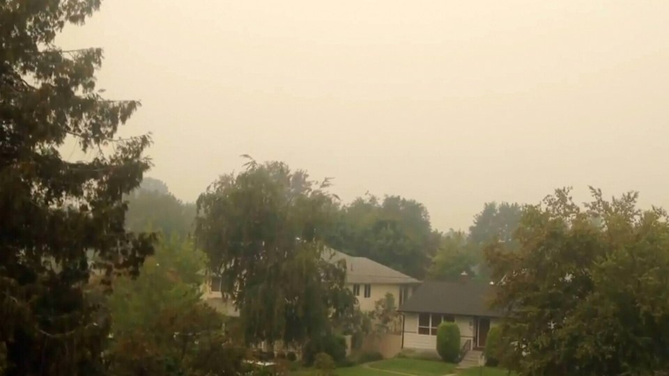 Smoke from wildfires in Washington State have drifted north of the border into southern B.C.
