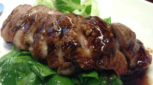 Honey glazed duck