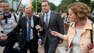 Chris Woodcock leaves courthouse in Ottawa