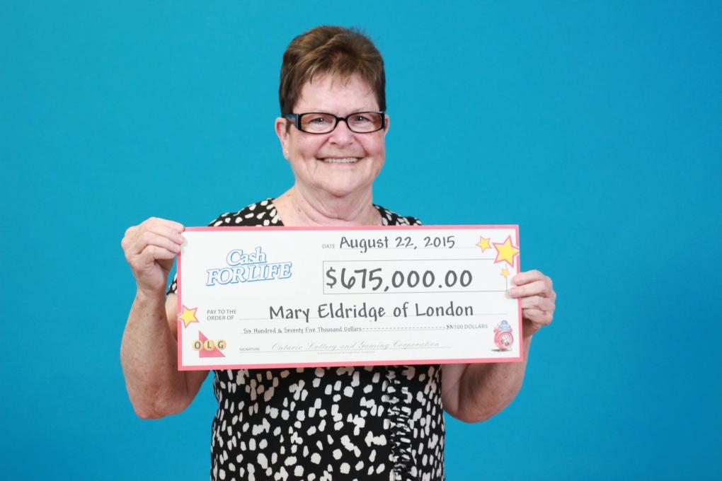 London lottery winner Mary Eldridge
