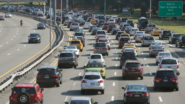 New York highway traffic