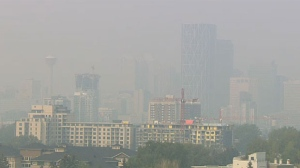 Smoky skies will continue to hang over the City of Calgary on Wednesday, but they are expected to improve, rising to 8 out of 10 on the air quality index.