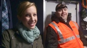 In this image shared by local television station WDBJ7, Alison Parker and Adam Ward are seen while out reporting on a previous assignment.