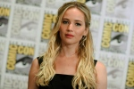 In this July 9, 2015 file photo, Jennifer Lawrence attends 'The Hunger Games: Mockingjay Part 2' press line on day 1 of Comic-Con International in San Diego, Calif.  (Invision / Richard Shotwell)
