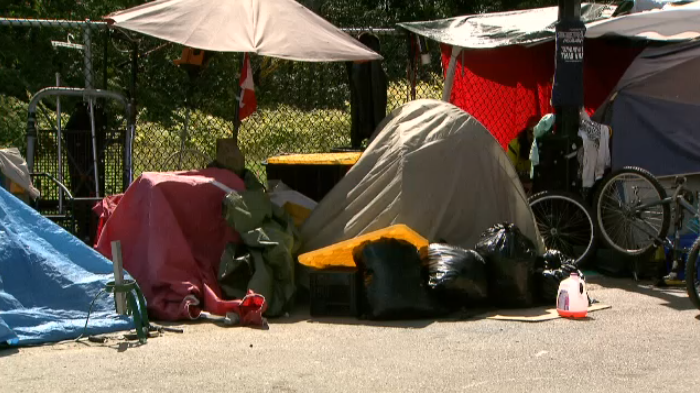 Tension over a tent city in Maple Ridge is the latest front in a battle over homelessness that has embroiled Maple Ridge for over two years. (CTV)