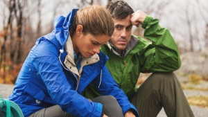Jeff Roop and Missy Peregrym are seen from a scene in the film 'Backcountry.' (Fella Films)