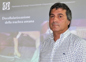 In this Friday, July 30, 2010 file photo, Dr. Paolo Macchiarini looks on during a press conference where he announced that his surgical team successfully transplanted the windpipes of two cancer patients with an innovative procedure that uses stem cells to create an organ that is biologically close to the original, in Florence, Italy.  (AP/Lorenzo Galassi, File)
