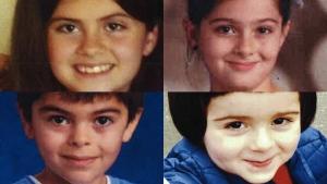Clockwise from top left: Rojevahn Beritan Mahmudi-Azer, Sharvahn Delahn Mahmudi-Azer, Meitan Serbast Mahmudi-Azer, Dersim Baran Mahmudi-Azer (Interpol)