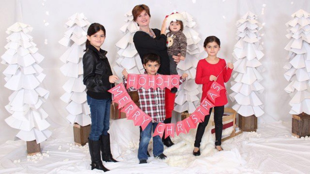 Alison Azer with her four children