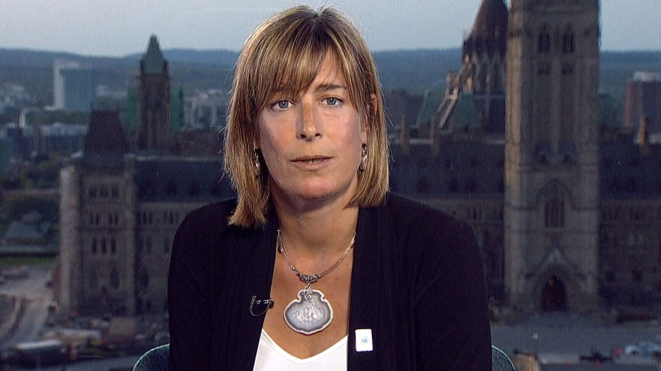 Union president, Debi Daviau appears on CTV News Channel from Ottawa on Friday, Aug. 28, 2015.