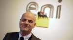 In this picture taken on Jan. 20, 2015, Italian energy giant Eni CEO Claudio Descalzi poses for a photo prior to the start of a conference, in Rome. (AP / Andrew Medichini)