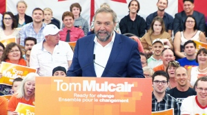 LIVE NOW: NDP Leader Tom Mulcair rallies in Halifax