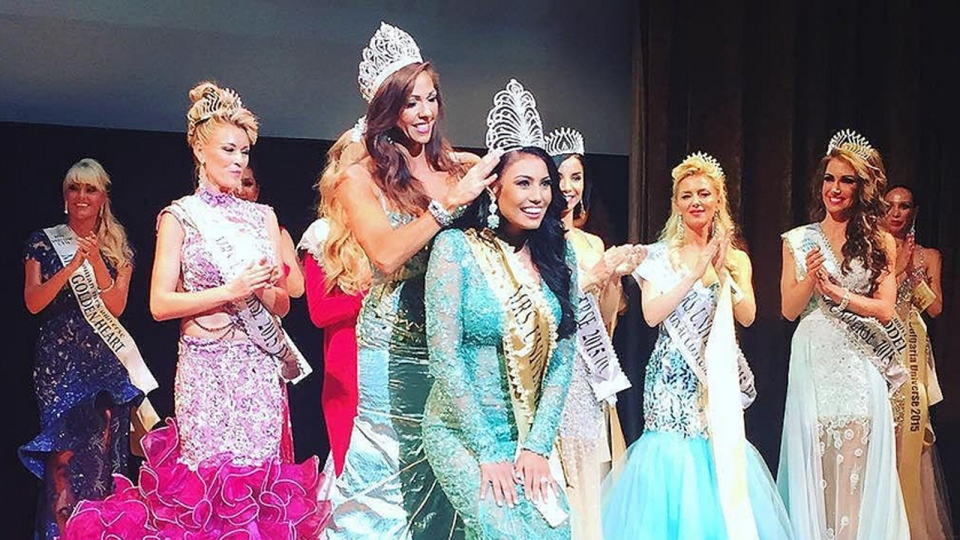Ashley Burnham was crowned Mrs. Universe 2015, in Belarus, Aug. 29, 2015. (Mrs. Universe / Instagram)
