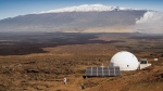 This March 10, 2015 photo provided by the University of Hawaii at Manoa HI-SEAS Human Factors Performance Study shows a dome in which six scientists will live an isolated existence to simulate life on a mission to Mars, on the bleak slopes of dormant volcano Mauna Loa. (Neil Scheibelhut/University of Hawaii at Manoa via AP)