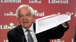 John McCallum, Liberal candidate for Markham-Thornhill, holds a news conference to discuss a hole in the NDP's spending plans, in Ottawa, Sunday August 30, 2015. (Fred Chartrand / THE CANADIAN PRESS)