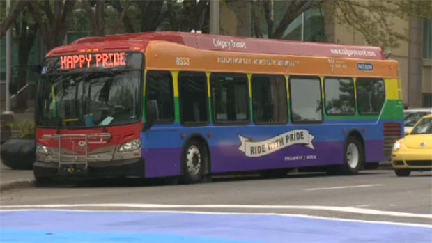 Jesse Rau, who took a controversial stance on Calgary Transit's new Pride Bus, which was unveiled last week, says he is now being unfairly targeted by those who disagree with his beliefs.