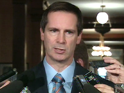 Ontario's Premier Dalton McGuinty told reporters on Wednesday, Nov. 18, 2008 that the province's auto sector will almost inevitably shrink.