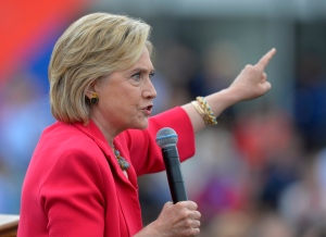 In this photo taken Aug. 27, 2015, Democratic presidential candidate Hillary Rodham Clinton speaks in Cleveland. (AP / David Richard)