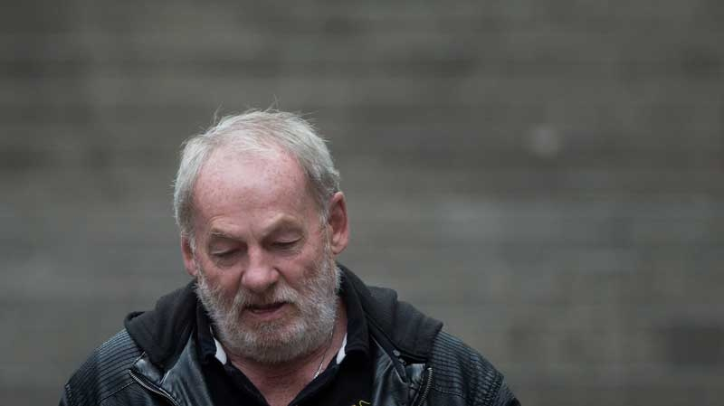 Ivan Henry, who was wrongfully convicted of sexual assault in 1983, leaves B.C. Supreme Court during a lunch break in Vancouver, B.C., on Monday August 31, 2015. (THE CANADIAN PRESS/Darryl Dyck)