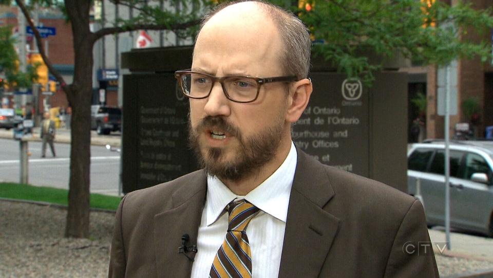 Criminal defence lawyer Michael Spratt speaks with CTV News, Monday, Aug. 31, 2015.