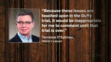 Terrence O'Sullivan, Pamela Wallin's lawyer