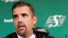 Roughrider's GM Jeremy O'Day. THE CANADIAN PRESS/Michael Bell