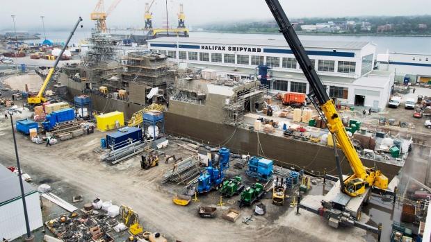 Irving shipyard in Halifax
