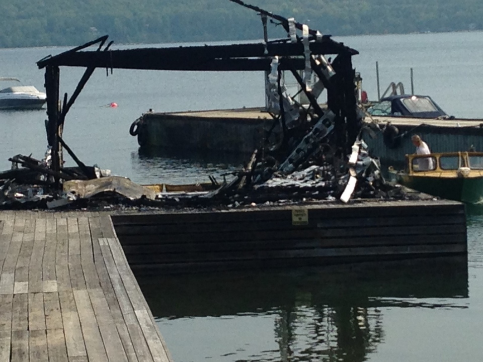 The Ontario fire marshal is investigating after a boat exploded in Tiny Township