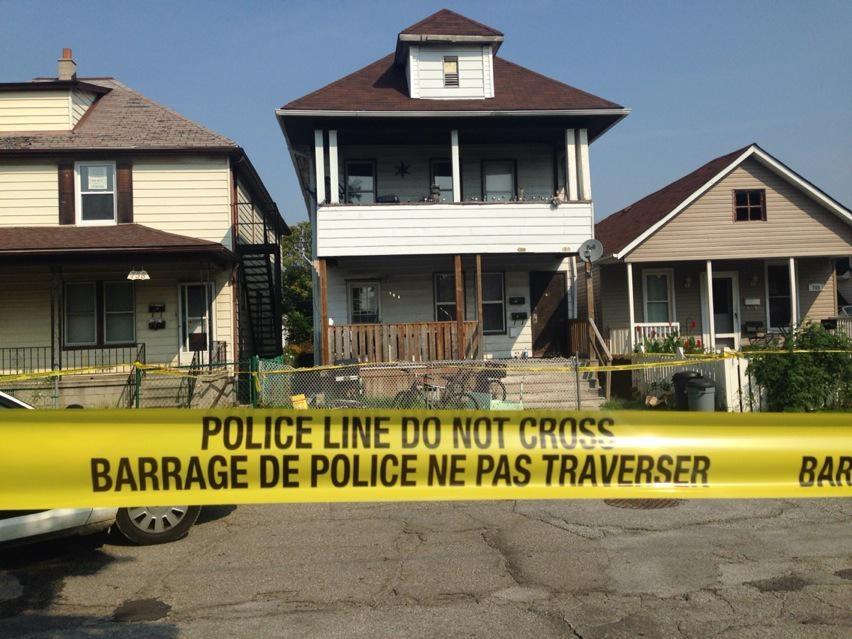 Windsor police are investigating after a homicide at 764 Brant St. in Windsor, Ont., on Wednesday, Sept. 2, 2015. (Rich Garton / CTV Windsor)