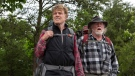 Robert Redford, left, as Bill Bryson and Nick Nolte as Stephen Katz taking in the view along the Appalachian Trail in the film, 'A Walk in the Woods.' (Frank Masi / SMPSP / Broad Green Pictures)