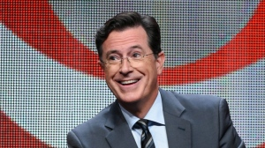 "In this Aug. 10, 2015 file photo, Stephen Colbert participates in the ""The Late Show with Stephen Colbert"" segment of the CBS Summer TCA Tour in Beverly Hills, Calif. Colbert's debuts his show on Tuesday. (Photo by Richard Shotwell/Invision/AP, File)"