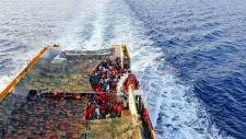 Migrants ship Italian Port of Cagliari