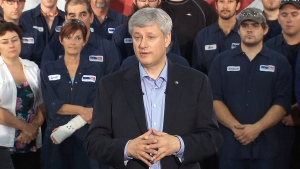 Harper speaks in Abbotsford, B.C.