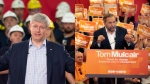 Conservative Leader Stephen Harper and NDP Leader Tom Mulcair are shown in this composite image. (THE CANADIAN PRESS)