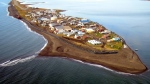 The village of Kivalina, Alaska is seen from the air on Sept. 11, 2006. (Northwest Arctic Borough via The Anchorage Daily News)