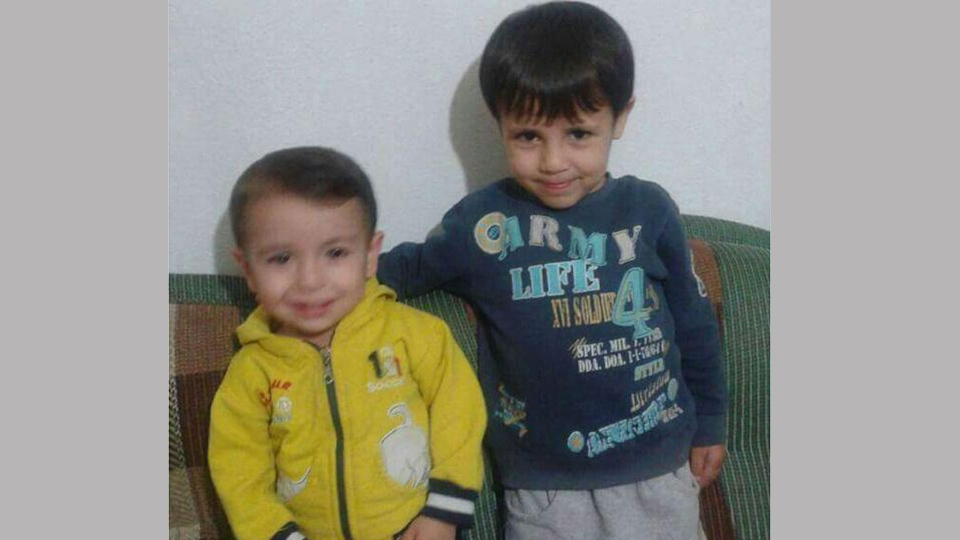 Brothers Alan and Ghalib Kurdi are pictured. (Twitter)