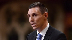 Then Conservative MP Patrick Brown gives his farewell speech in the House of Commons in Ottawa, Wednesday, May 13, 2015. (Sean Kilpatrick / THE CANADIAN PRESS)