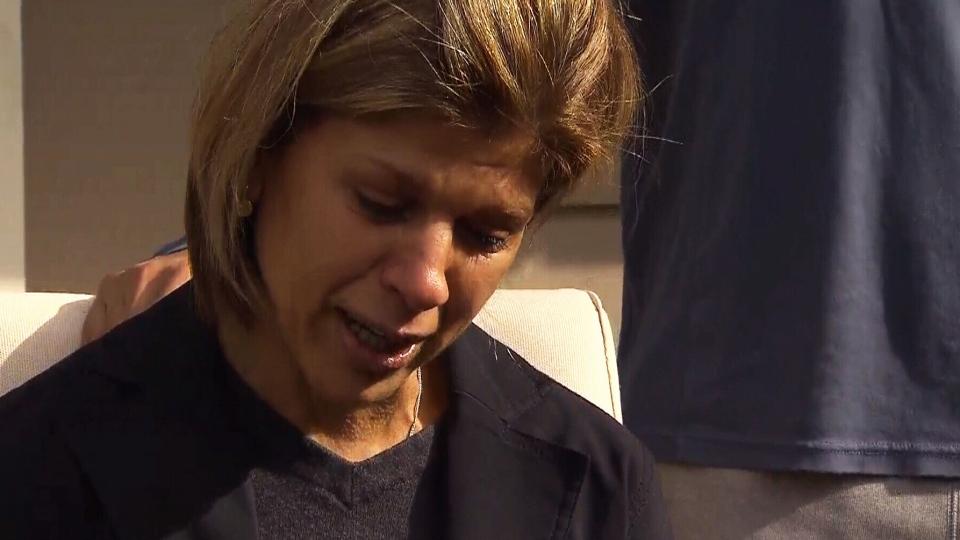 Tima Kurdi, the aunt of Syrian boy Alan Kurdi, speaks to media Thursday, Sept. 3, 2015.